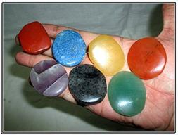 Fantastic Chakra Gemstone Palm Stone Set Worry Stone Thumb S