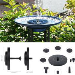 Floating Solar Powered Water Fountain Garden Pump Pond for B