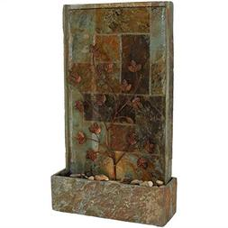 Sunnydaze Floor Water Fountain with Climbing Vines and Halog
