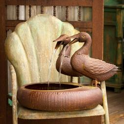 Folk Art Duck Fountain Spitter with Pump/patio-indoor-outdoo