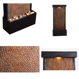 Forged Water Resin and Metal Table/Wall Fountain
