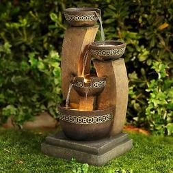 "Four Bowl 41 1/2"" High Cascading Fountain"
