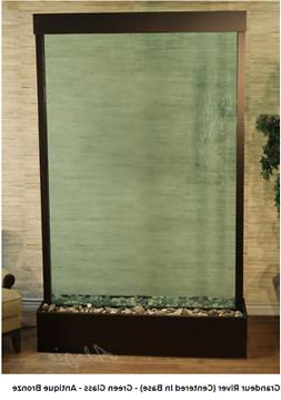 ADAGIO Grandeur River center-mount water wall, green glass,