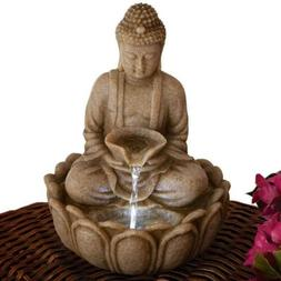 Bits and Pieces - Indoor Buddha Fountain - Zen Tabletop Wate