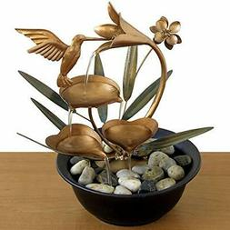 Bits and Pieces - Indoor Hummingbird Lily Fountain - Zen Tab