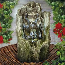 Bits and Pieces - Indoor/Outdoor Lion Tabletop Fountain - Co