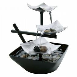 Indoor Table Top Water Fountain Silver Springs Relaxation Un