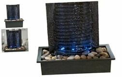 Indoor Water Fountain With LED Lights- Lighted Waterfall Tab