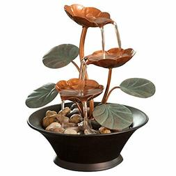 Waterfall Fountain Desktop Tabletop Indoor Water Lily Relaxa