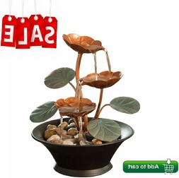 Indoor Water Lily Water Fountain Small Size Makes Perfect Ta