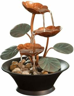 indoor water lily water fountain