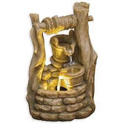 Bits and Pieces - Indoor LED Wishing Well Fountain - Zen Tab