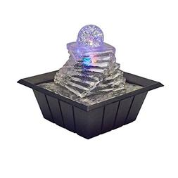 """ORE International FT-1219 8"""" Spiral Ice Table Fountain W/Mul"""