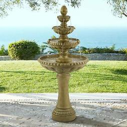 "Italian Outdoor Floor Water Fountain with Light LED 66"" 4 Ti"