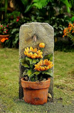 Jeco Inc. Resin/Fiberglass Sunflower Water Fountain