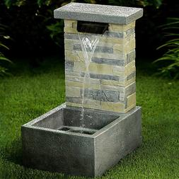 Jeco Inc. Resin Stone Water Fall Fountain with LED Light
