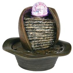"Ore International K325 8"" Table Fountain with LED Light"