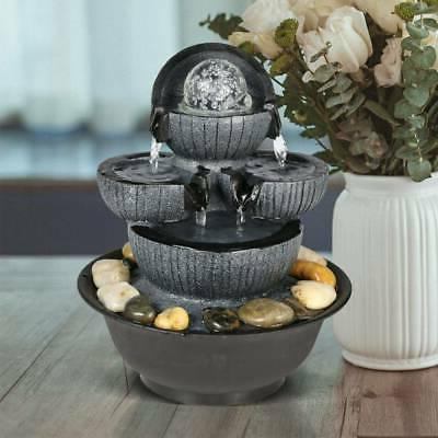Water Indoor Relaxation Fountain Tabletop Table Home Decor R