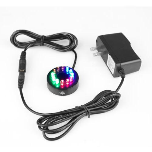 12 led fountain ring lights auto colored