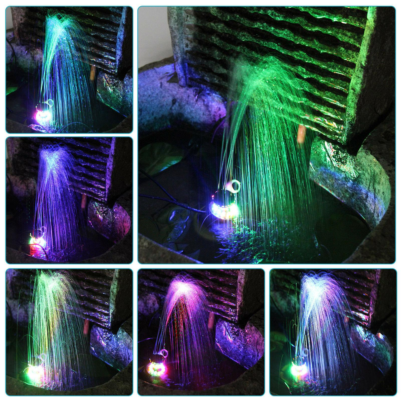 12 LEDs Fountain Lights Colored Changing Water