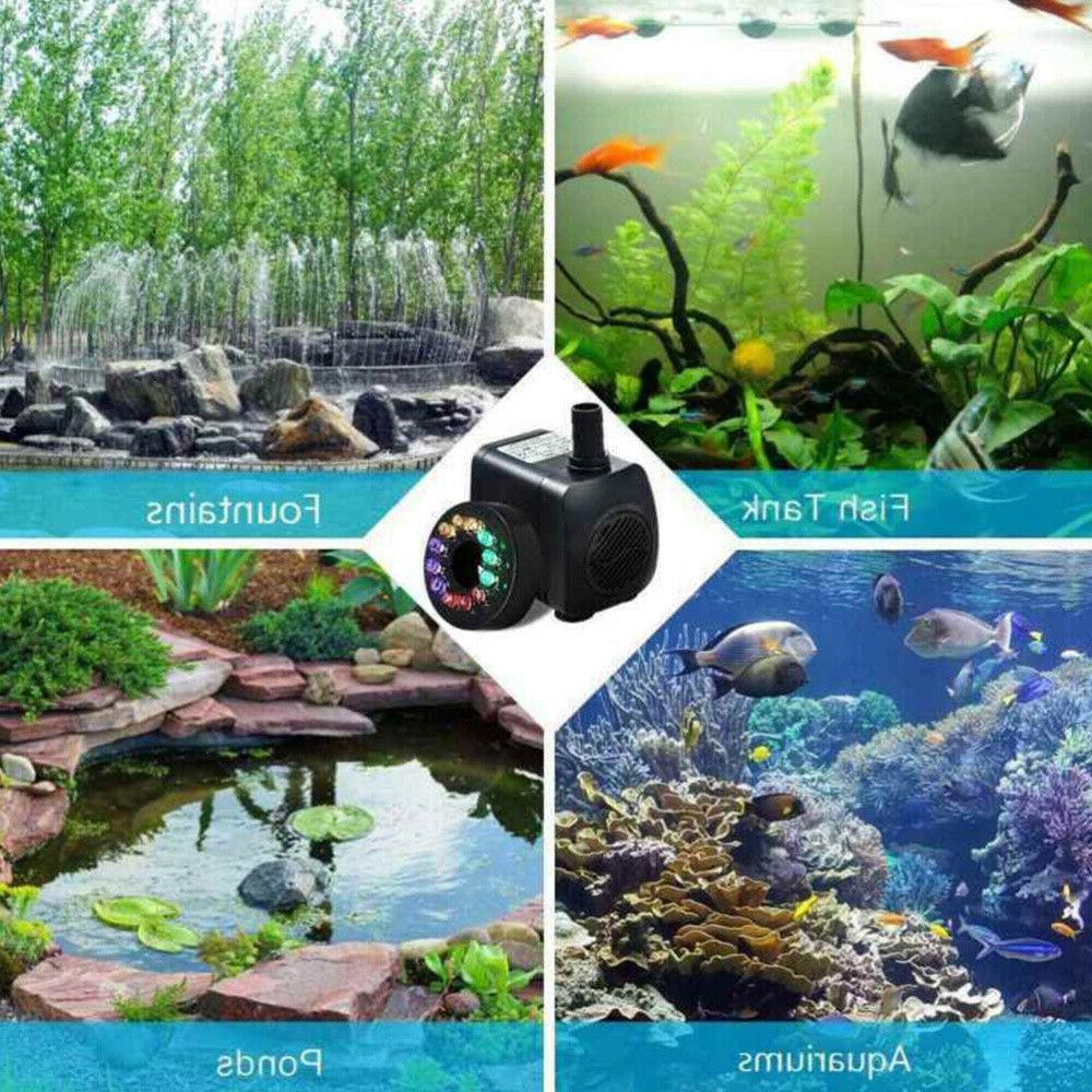 15W Water Fountain with Silent Small for Fish Tank