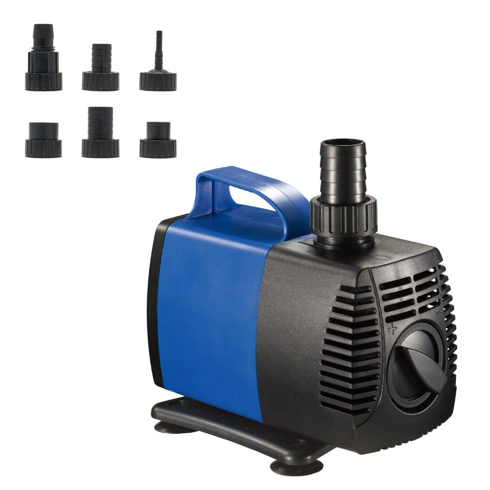 160-1600 GPH Submersible Water Pump Fish Fountain