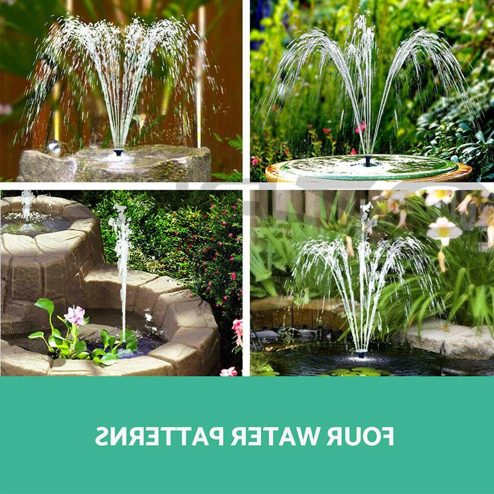 180L/h Solar Pump Floating Kit Watering Power Fountain
