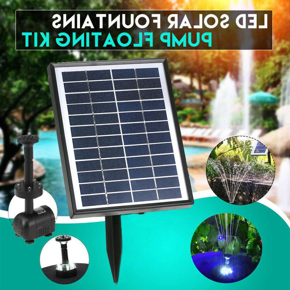 2.8W Solar Fountain Submersible With Filter Pool