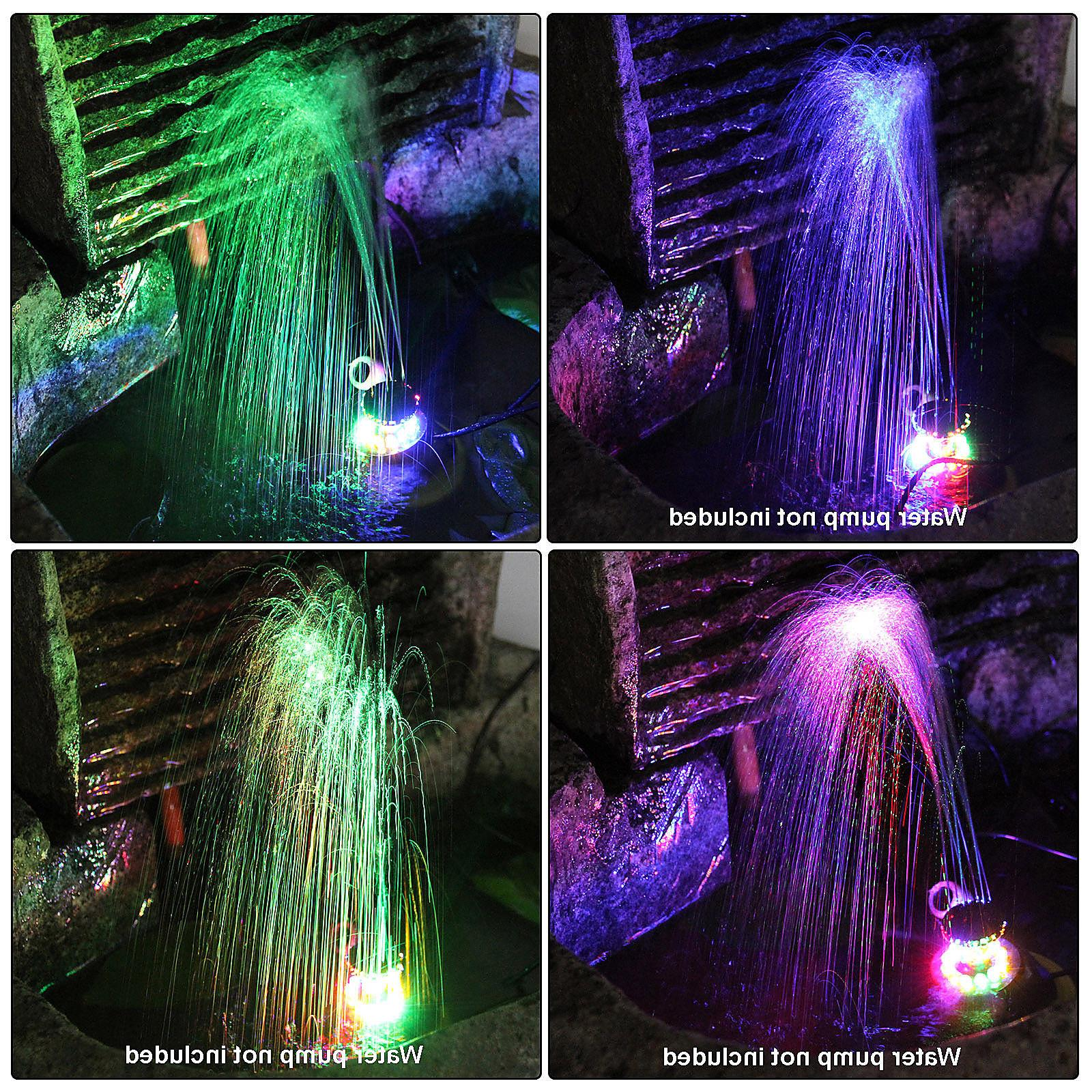 3 Pack Fountain Lights Colored Changing Submersible Pump