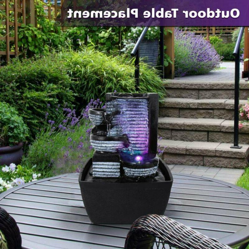 SereneLife Water Fountain LED