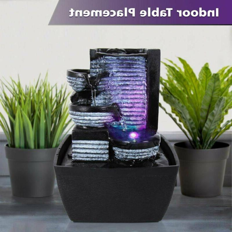 Water Fountain Decor LED Outdoor