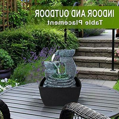 3-Tier Fountains Electric Decor LED Outdoor