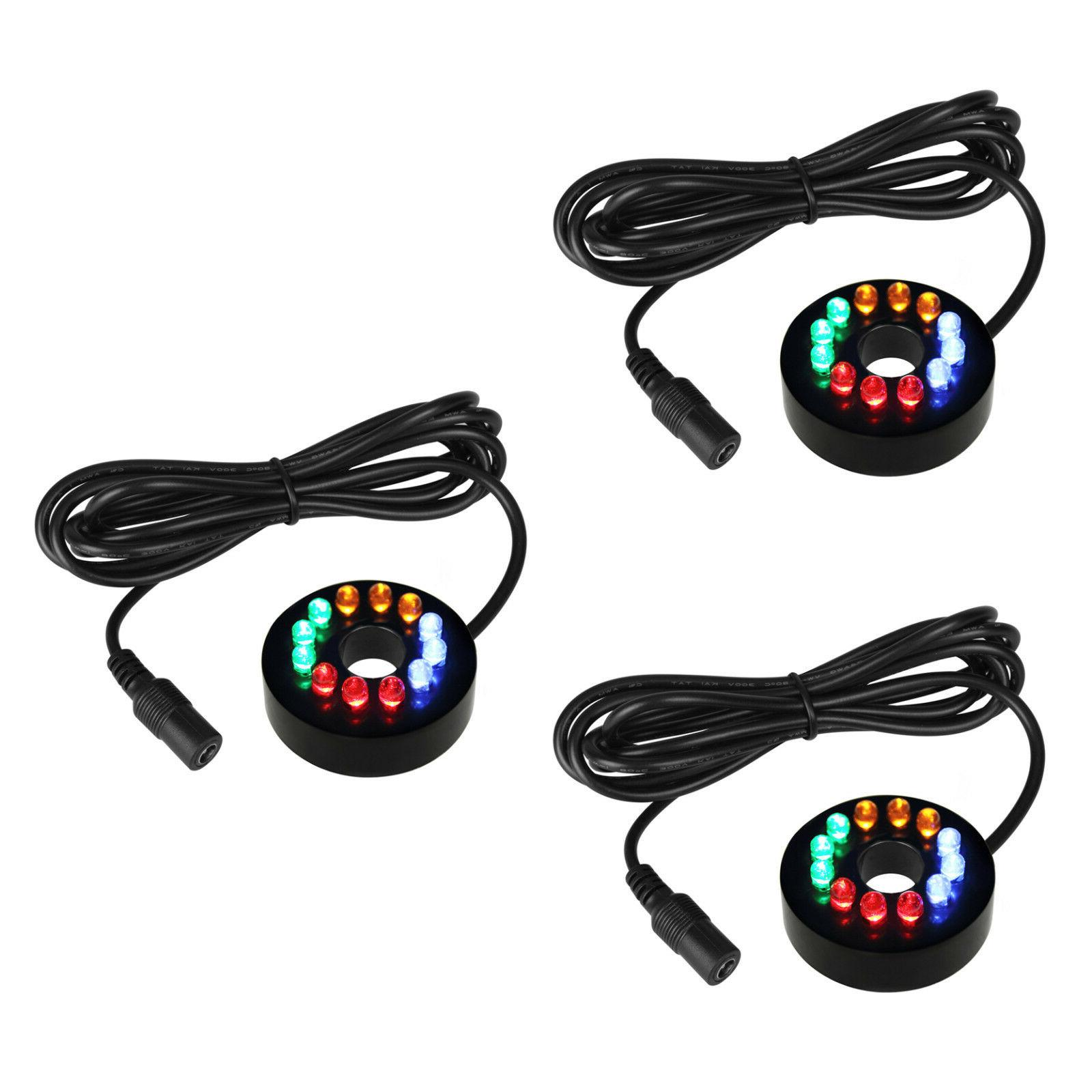 3pcs fountain ring lights 12 leds auto