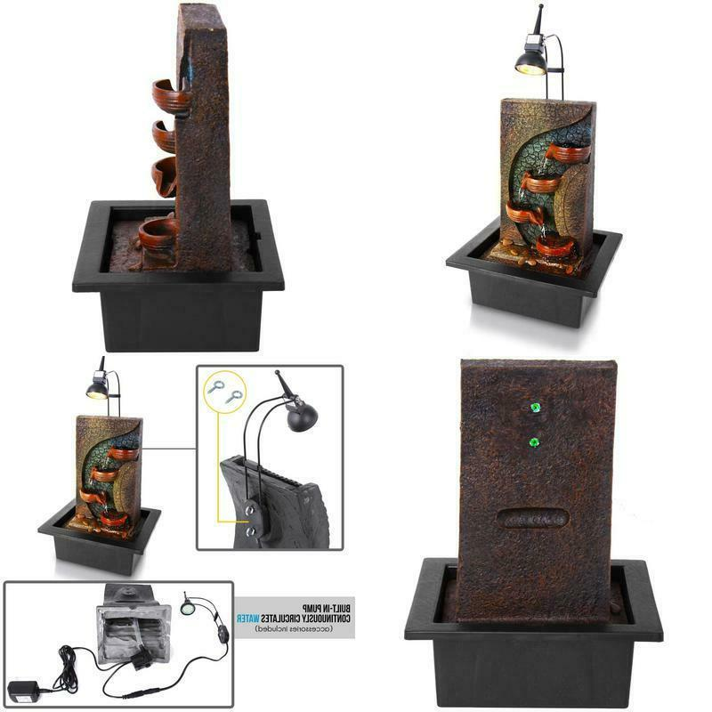 4 tier desktop electric water fountain decor