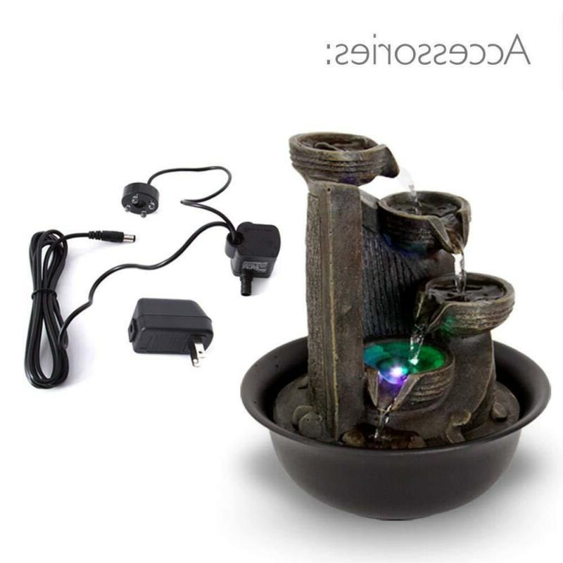 SereneLife Electric Water Decor LED