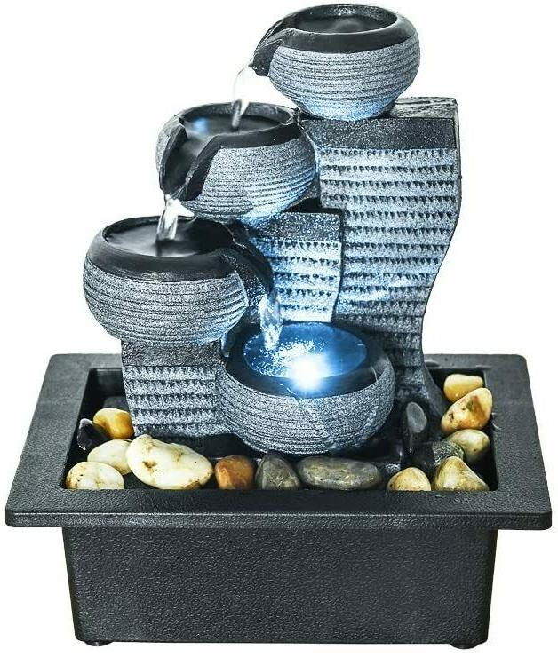 4-Tier Tabletop Fountain Pump Indoor