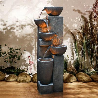 40 water fall 5 tier water fountain