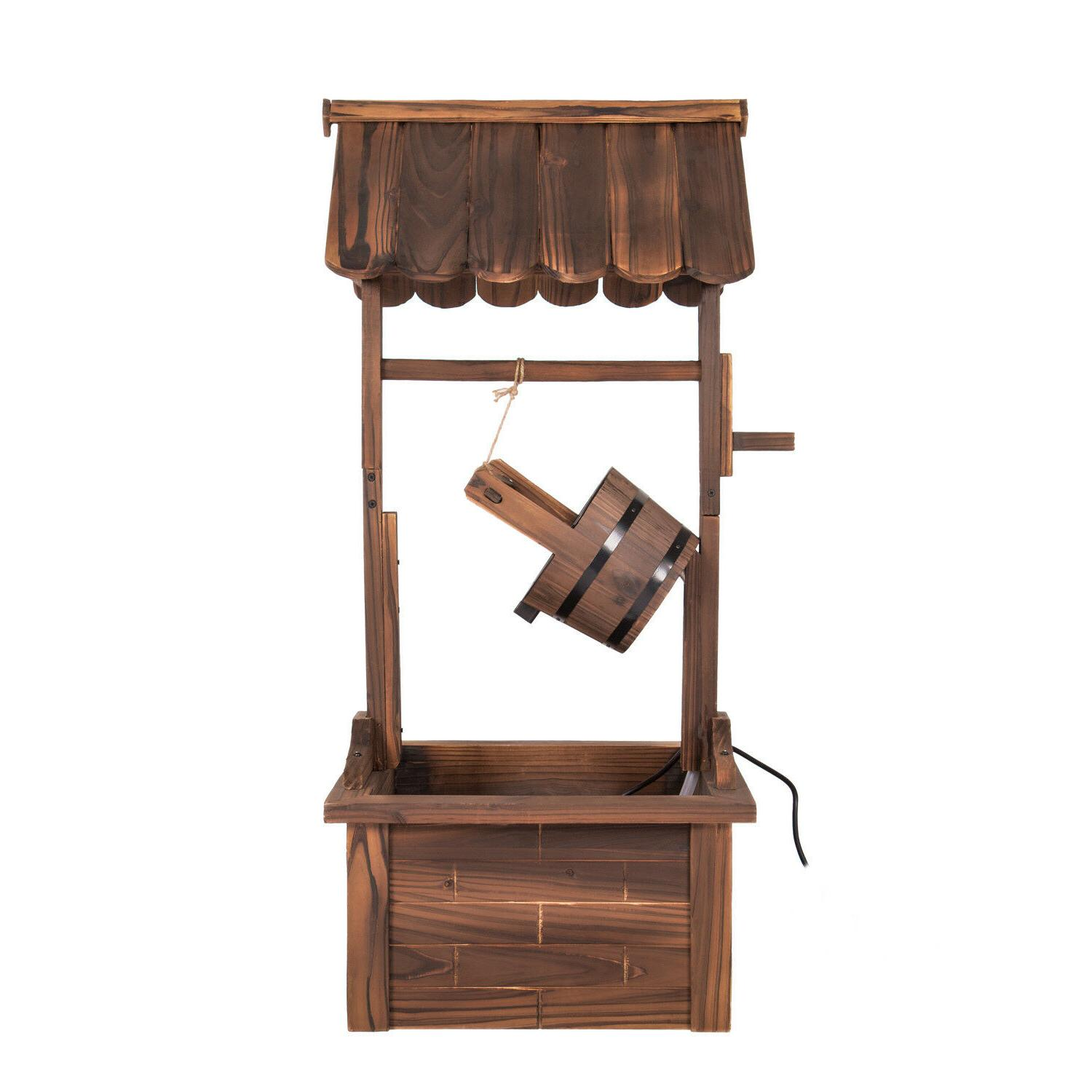 44-Inch Rustic Wishing Well with Pump