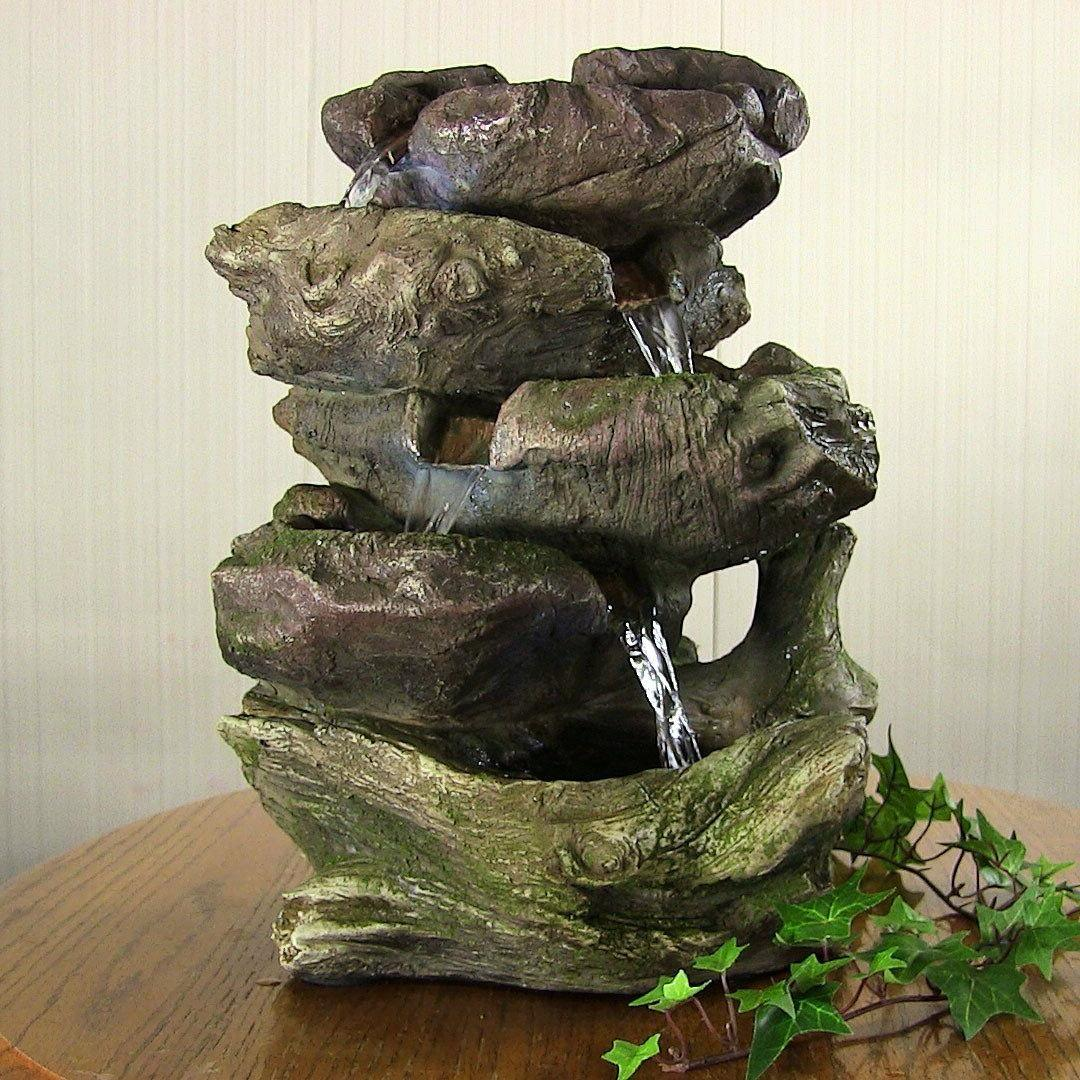 5 rock falls tabletop fountain
