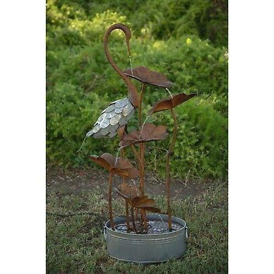 5 tier flamingo water fountain grey