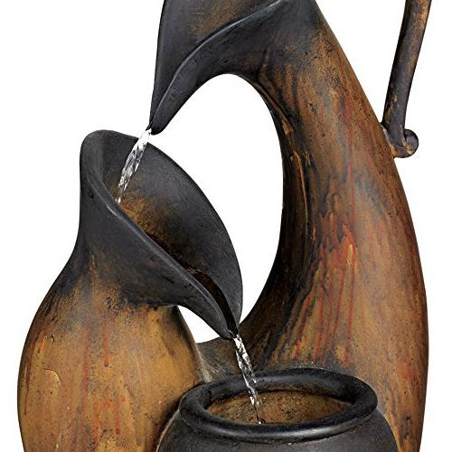 Weathered Jug Tabletop Fountain