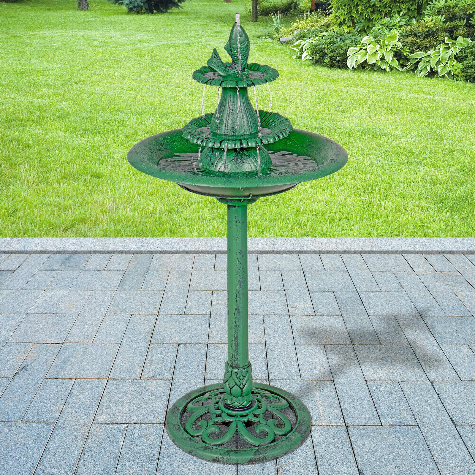 Alpine Corporation Pedestal Fountain and Bird with