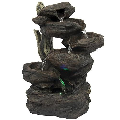 Best Choice Indoor 6-Tier Fountain Waterfall Multicolor Lights
