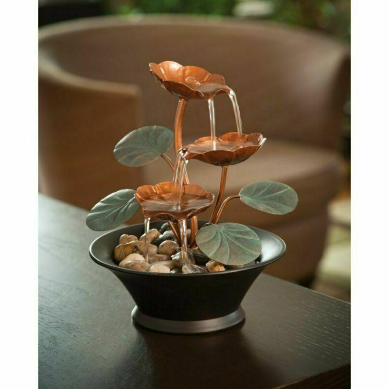 Bits Pieces Indoor Water Lily Fountain-Small Makes A Perfe
