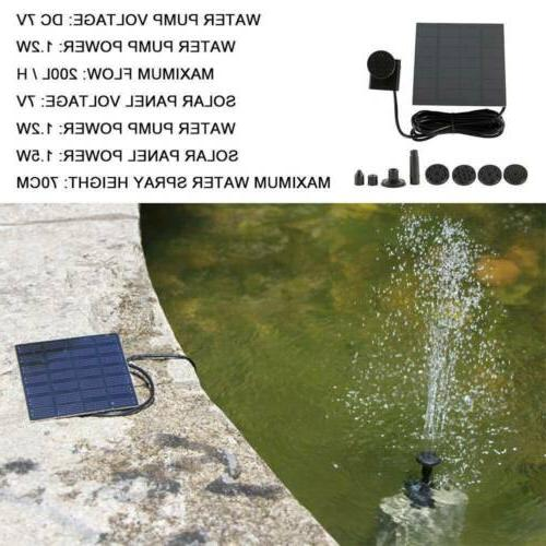 Brushless Solar Power Kit Pool Garden Watering 200L/H