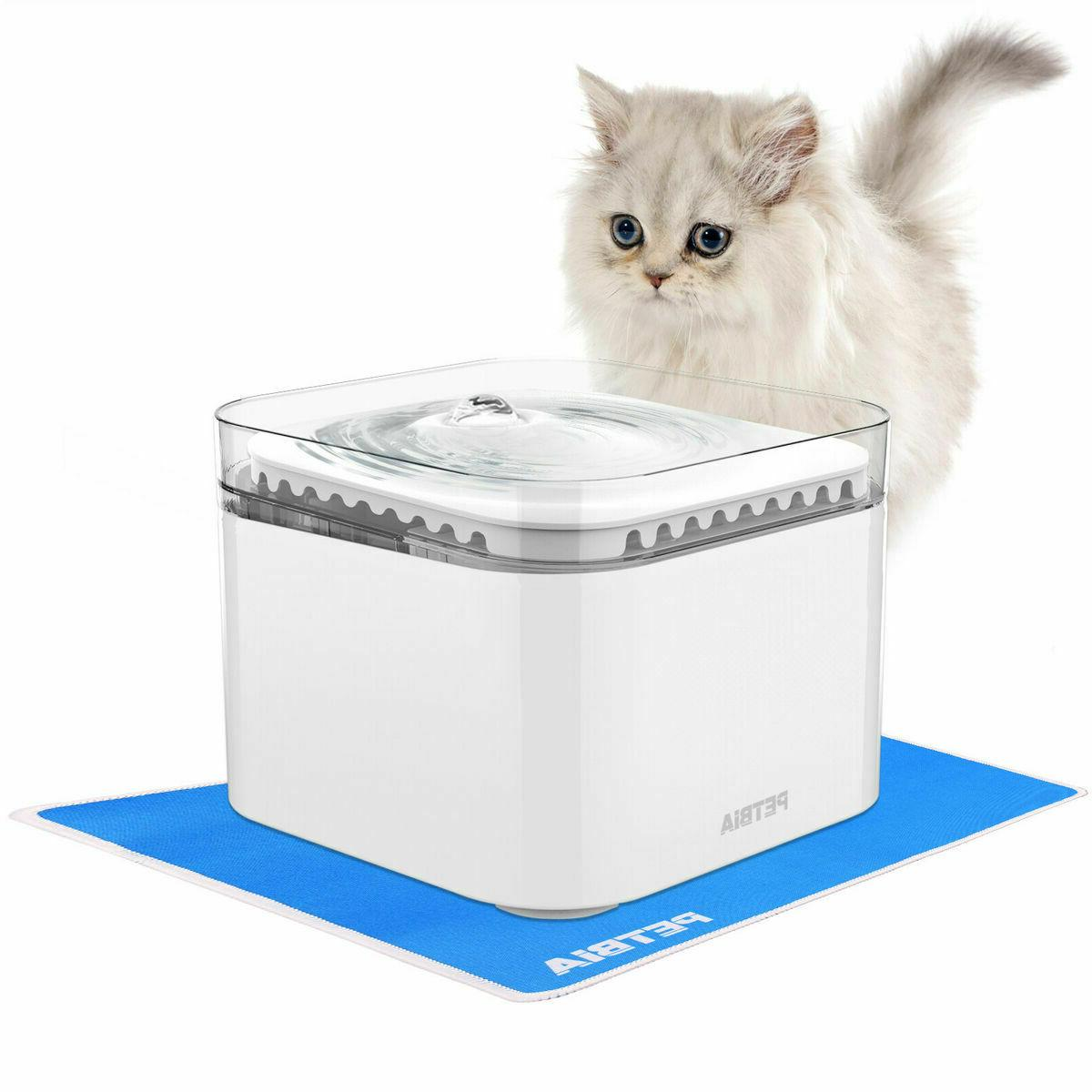 PETBIA Cat Water Fountain 84oz/2.5L Automatic Pet Dog Water