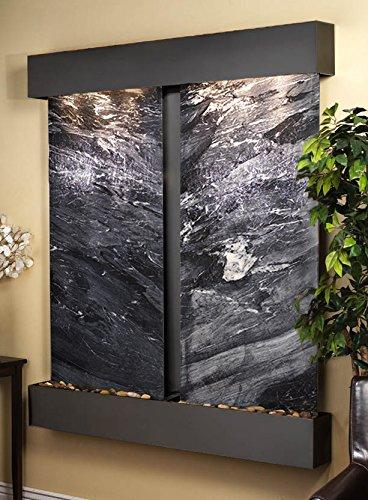Cottonwood Water Feature with Blackened Copper Trim and Square Edges