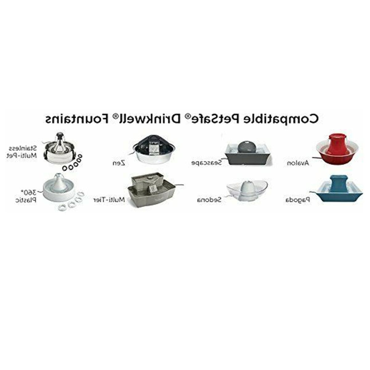 Drinkwell Dog Cat Fountain Ceramic Replacement Pump Supply kit