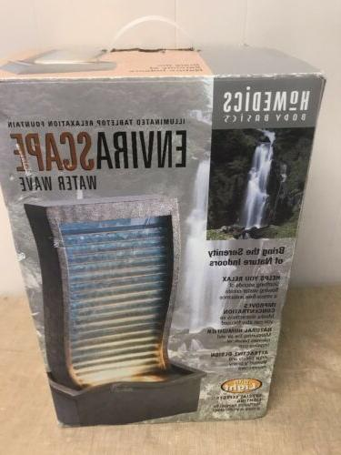 envirascape illuminated relaxation fountain water wave wfl