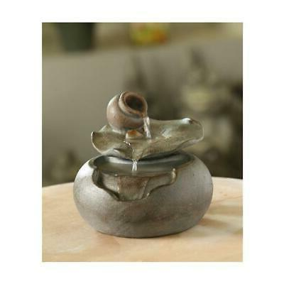 fct108 lotus leaf tabletop water fountain